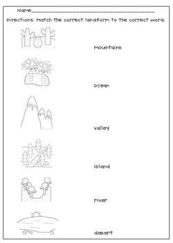 Printables Landforms Worksheets printables worksheets on landforms safarmediapps english teaching landforms